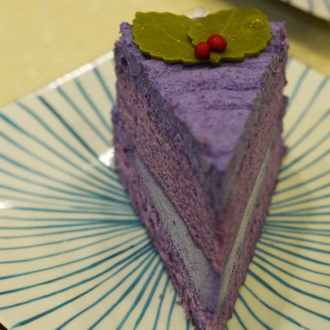 Purple perk chocolate cake