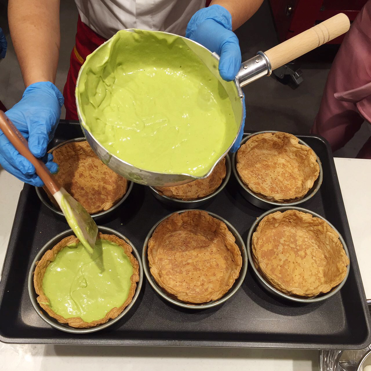 Now In Manila Pablo The Best Cheesecake World Booky Sabrel Cheese Making Of Matcha Tarts Img 7321
