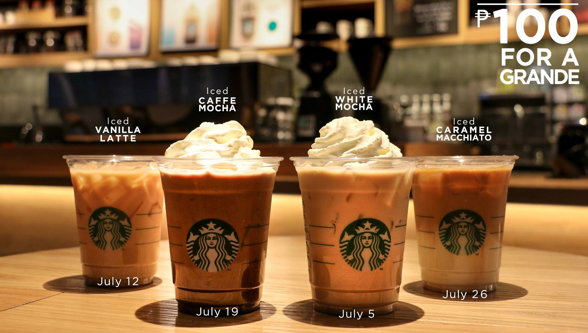 Limited Time Offer: ₱100 Iced Espresso at Starbucks every ...