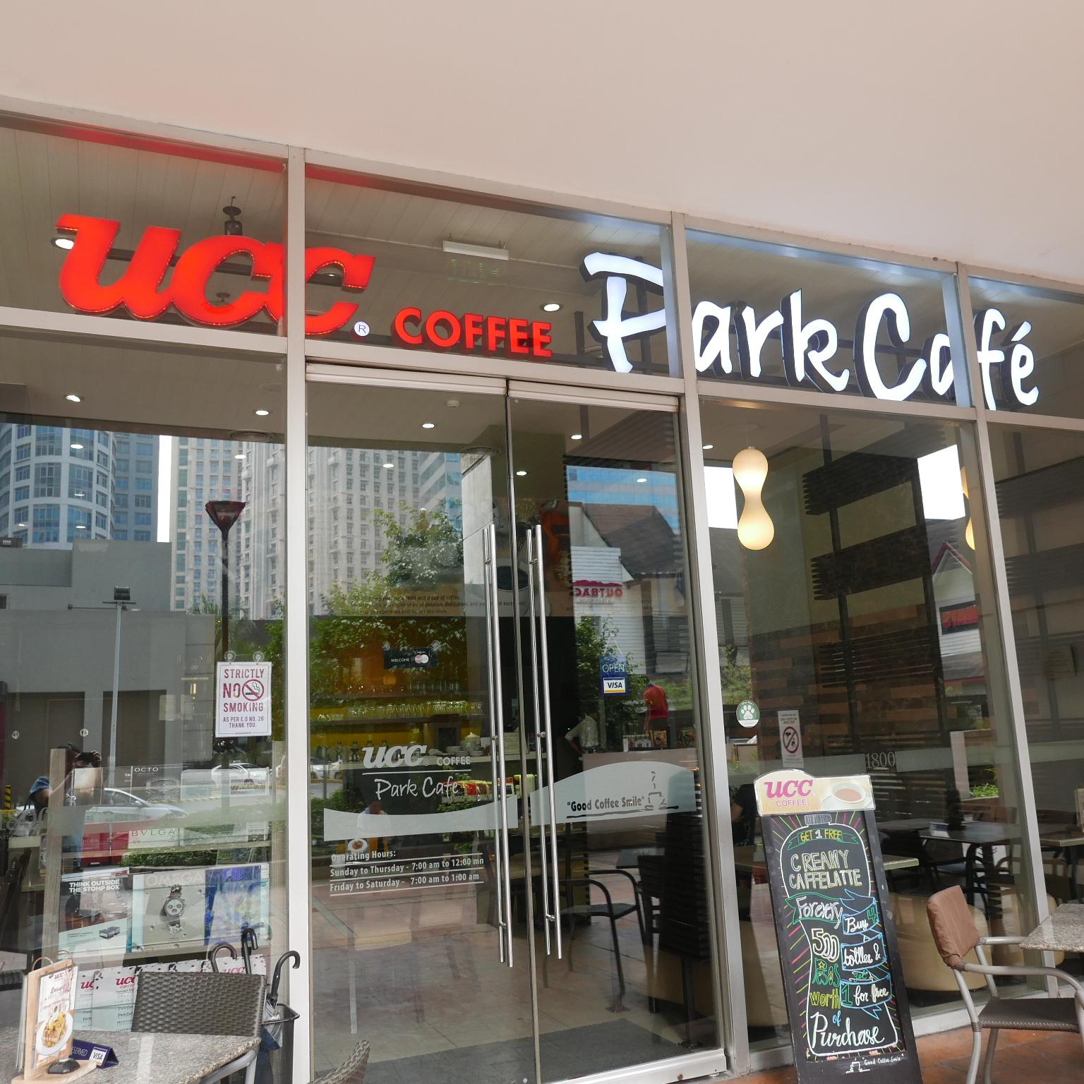 Ucc Park Cafe Menu