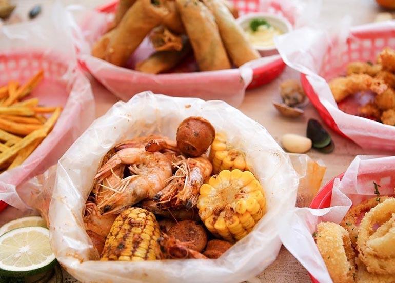bag of seafood