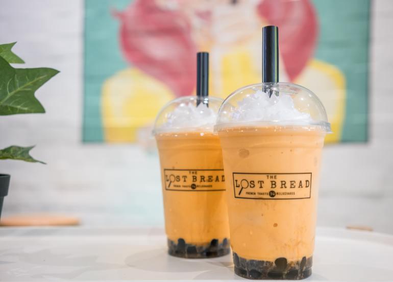 the lost bread thai milk tea milkshake