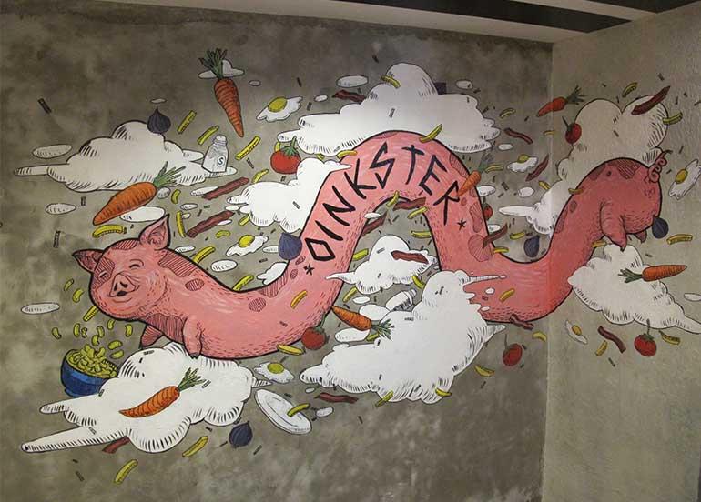 oinkster-mural