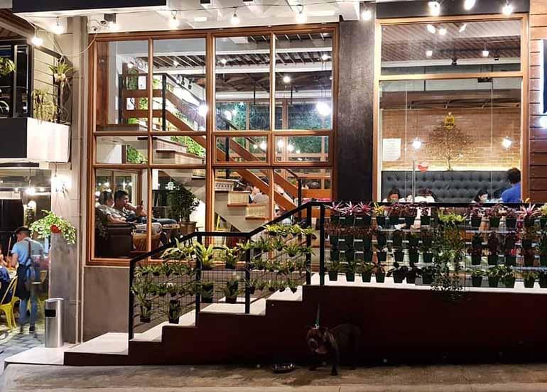 Garden-inspired exteriors from Yellow Bird Cafe