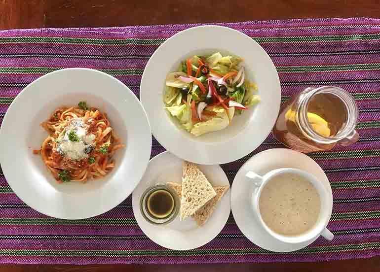 Assortment of meals from Luljetta's restaurant