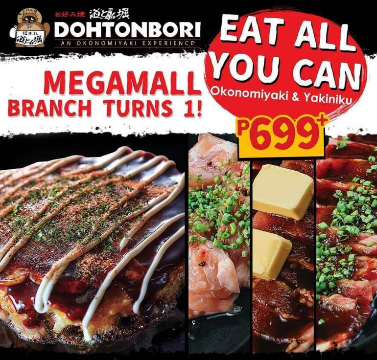 dohtonbori sm megamall unlimited okonomiyaki yakiniku