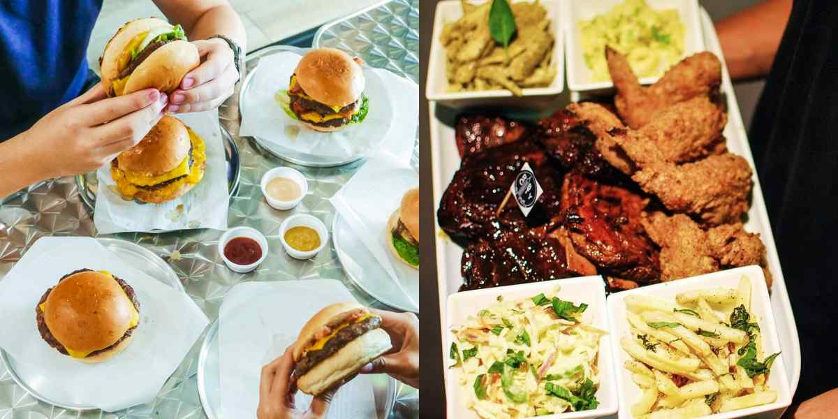 american restaurant food diner bbq barbecue pizza burgers metro manila