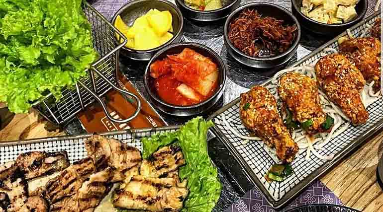 side-dishes-grilled-meat-fried-chicken
