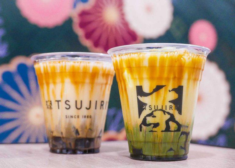 milk tea kuromitsu jelly tsujiri