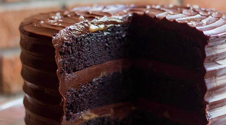 Salted Chocolate Cake from Wildflour Cake + Bakery
