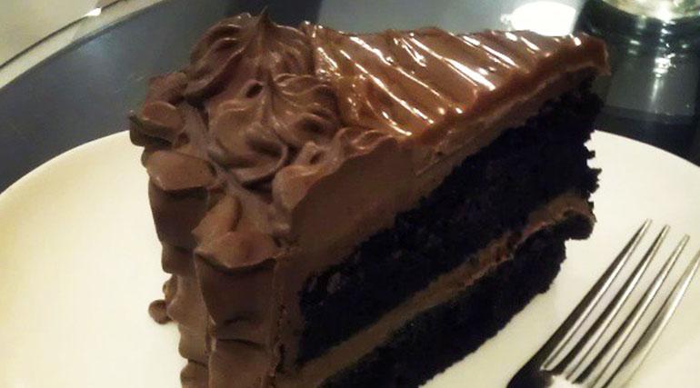 Double Chocolate Yema Cake from Slice