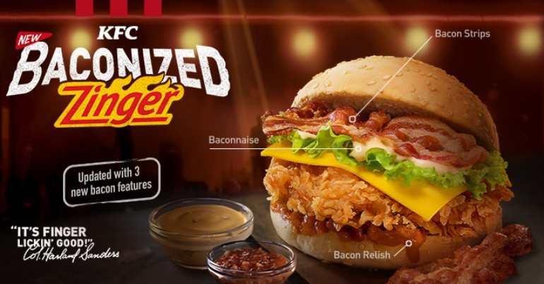 kfc baconized zinger
