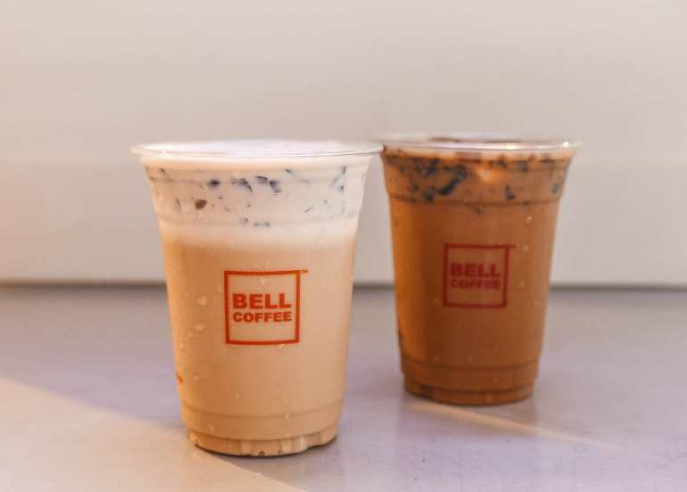 bell coffee, cafes, milk tea, coffee, tea
