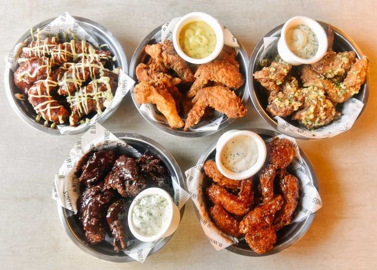 It's Time to Get Your Hands Dirty with 10 Different Wing Flavors and More at B.Wings!
