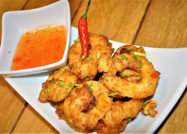 Spicy Calamari from Cuesina Bistro