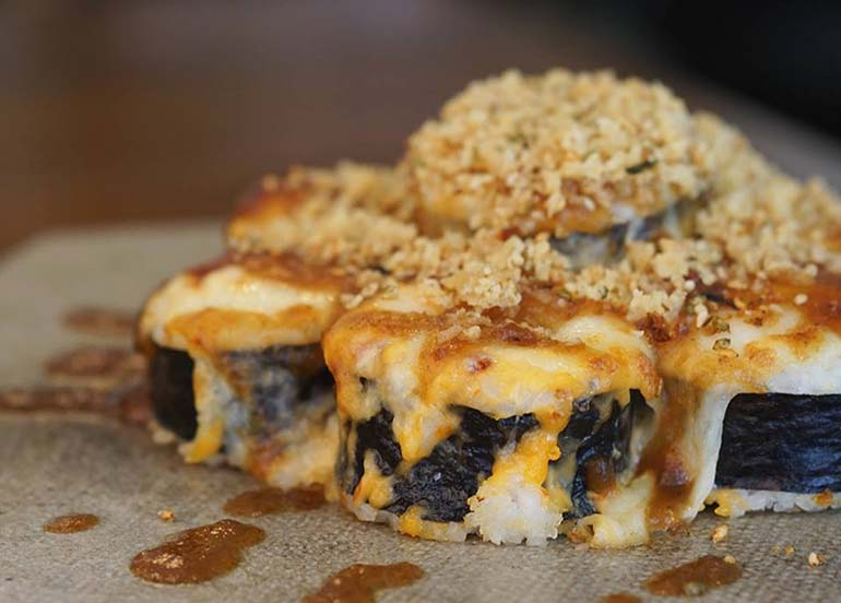 Sushi from Rice and Dough