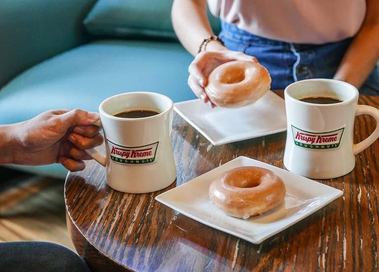 Original Donut and Coffee from Krispy Kreme