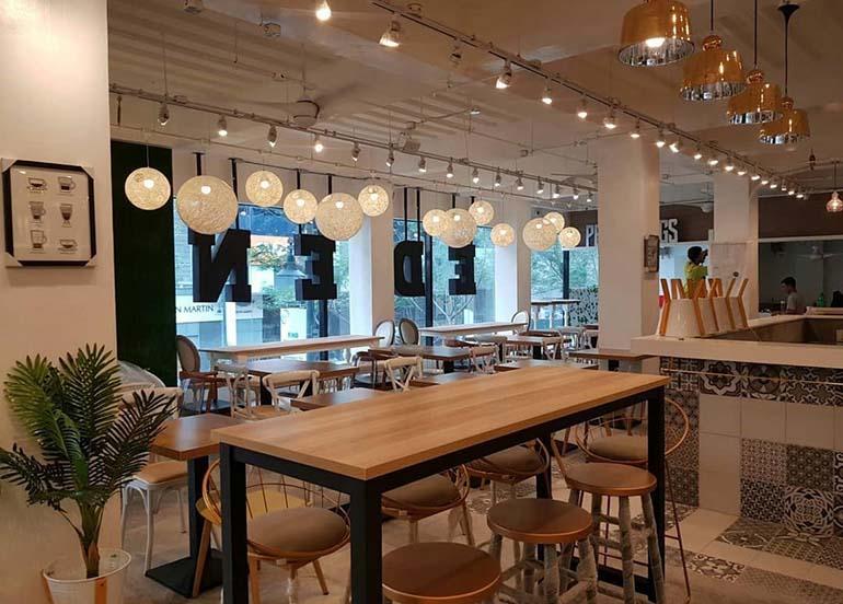 interiors, eden food hall, bgc