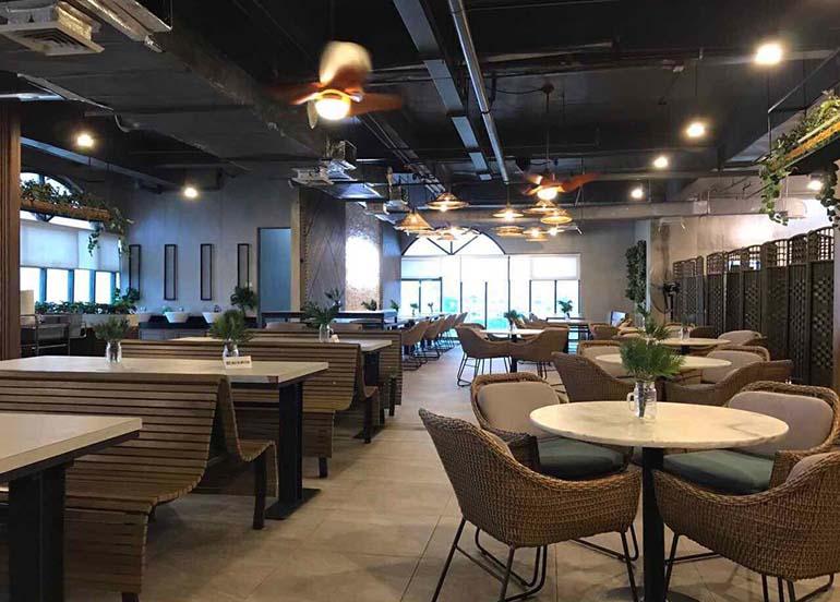 interiors, pitsa food hall