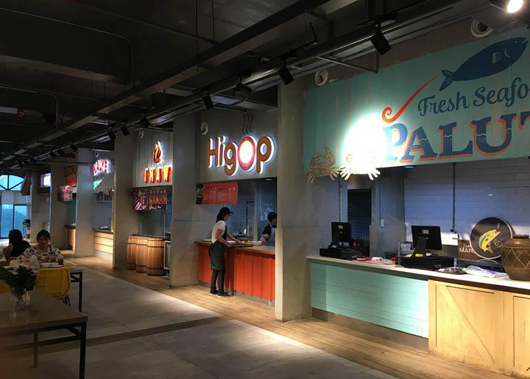 food stalls, pitsa food hall