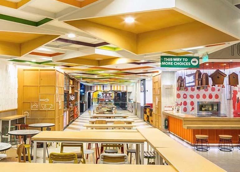 interiors, food hall