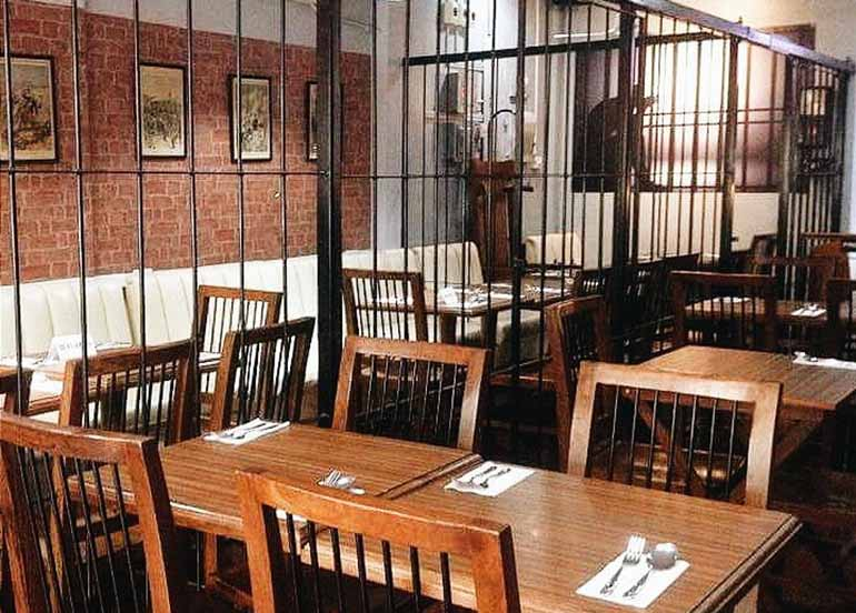 caffe piansa interiors, jail, courtroom