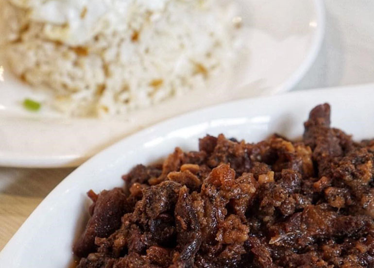 tapa and garlic rice