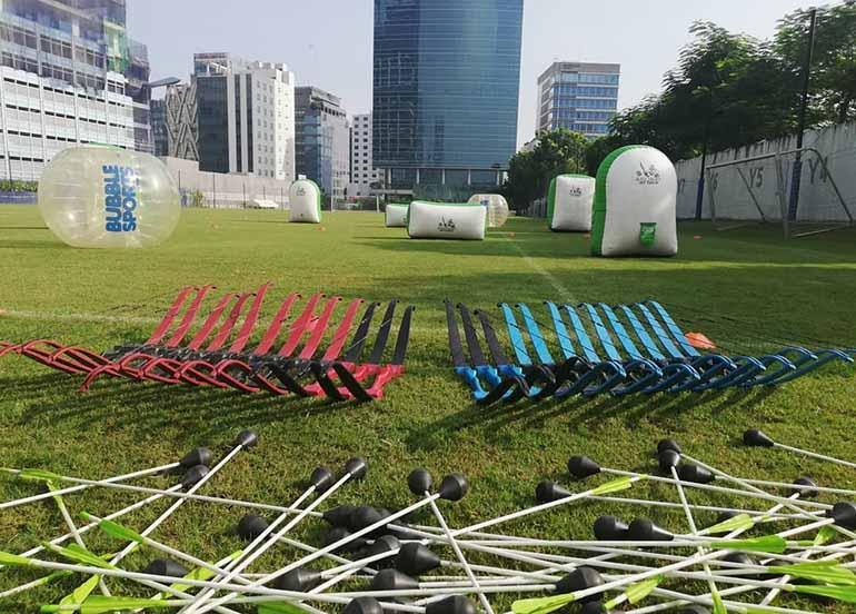 bows, arrows, field
