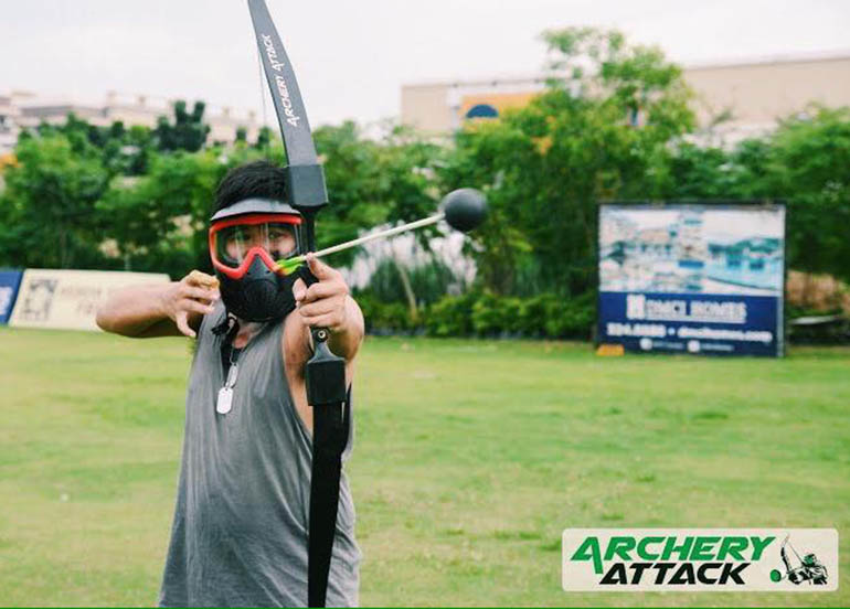 archery attack, player. arrow, bow