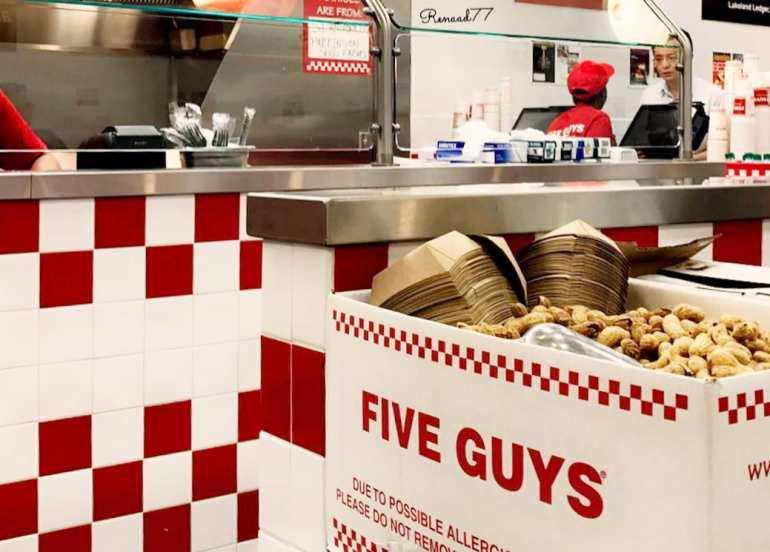 fries, five guys, burger, burgers, international franchise