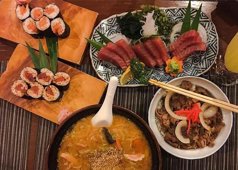 Sashimi, Maki, and Ramen from Riozen