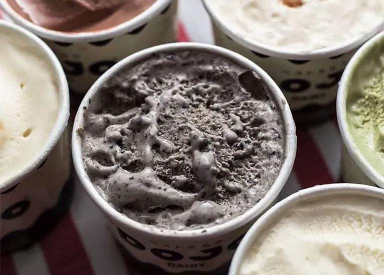 Black Sesame Ice Cream from Dojo Dairy