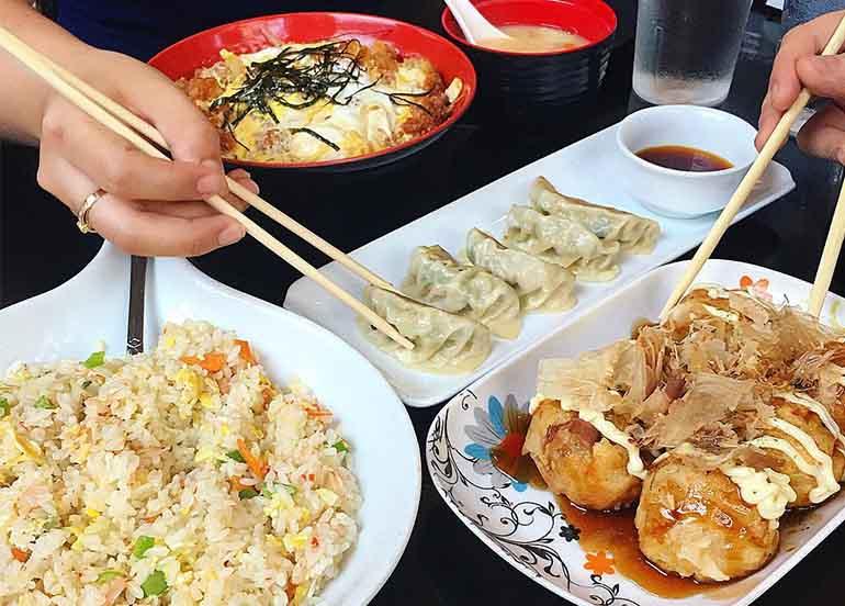 Takoyaki, Gyoza, and Fried Rice from Hana