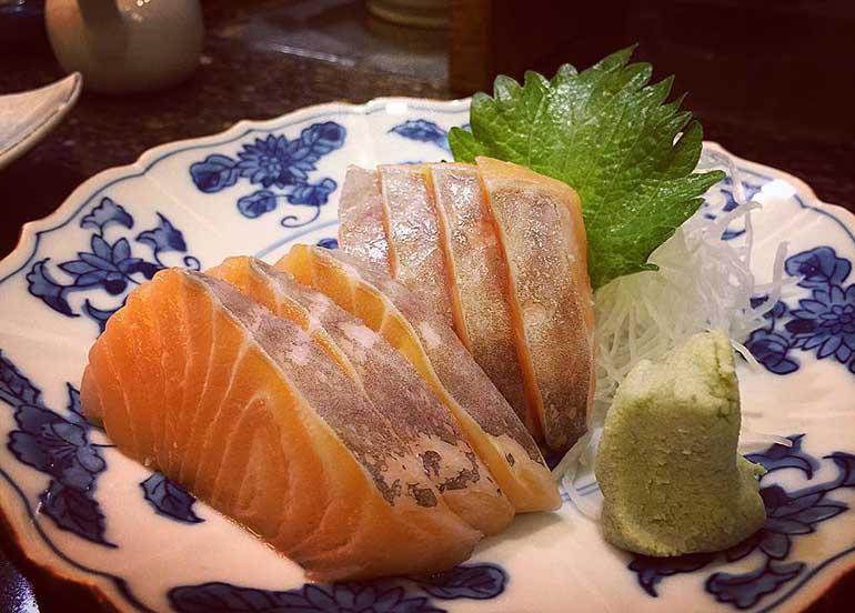 Salmon Sashimi from Nodasho