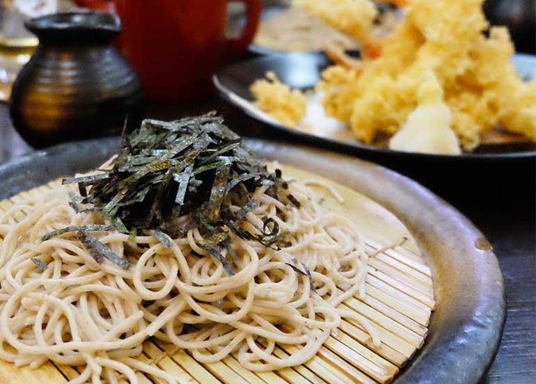 Noodles and Tempura from Sekitori