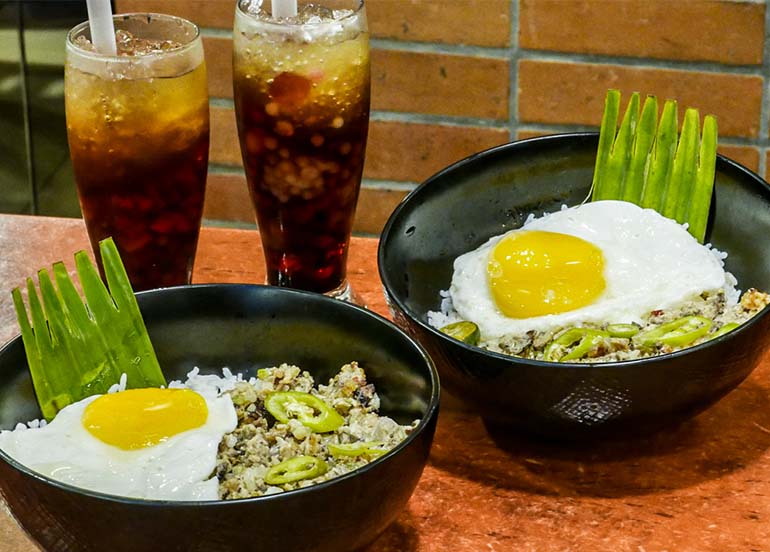Sisig Rice Bowl from Max's Restaurant