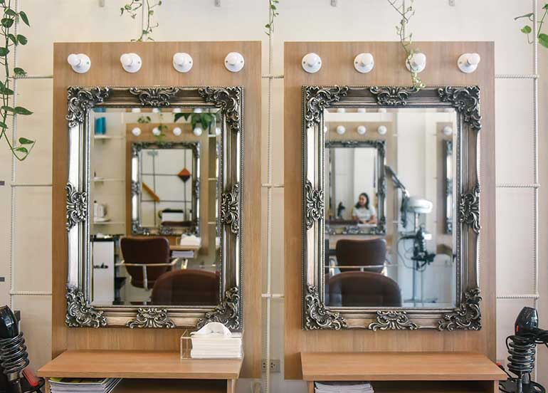 Hair MNL Studio Mirror Interiors