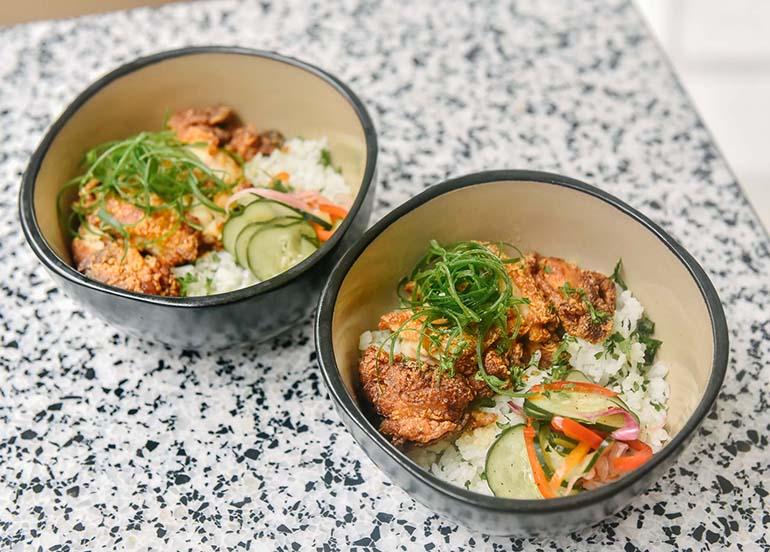Crispy Honey Garlic Chicken Bowl from Sunnies Cafe