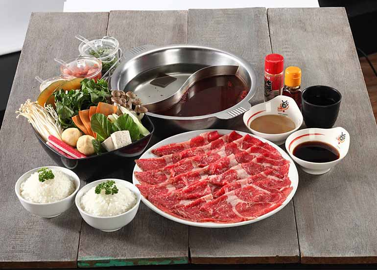 Hot Pot Options from Ganso-Shabuway