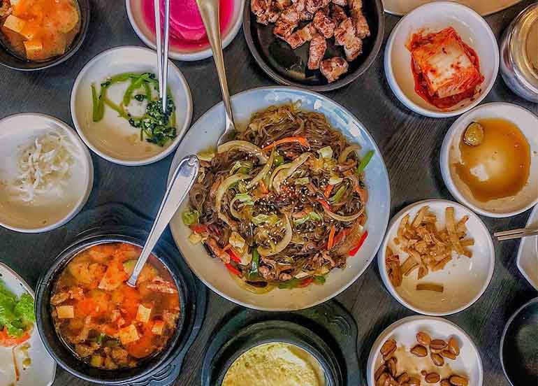 Korean Dishes from Masil Charcoal Grill Restaurant