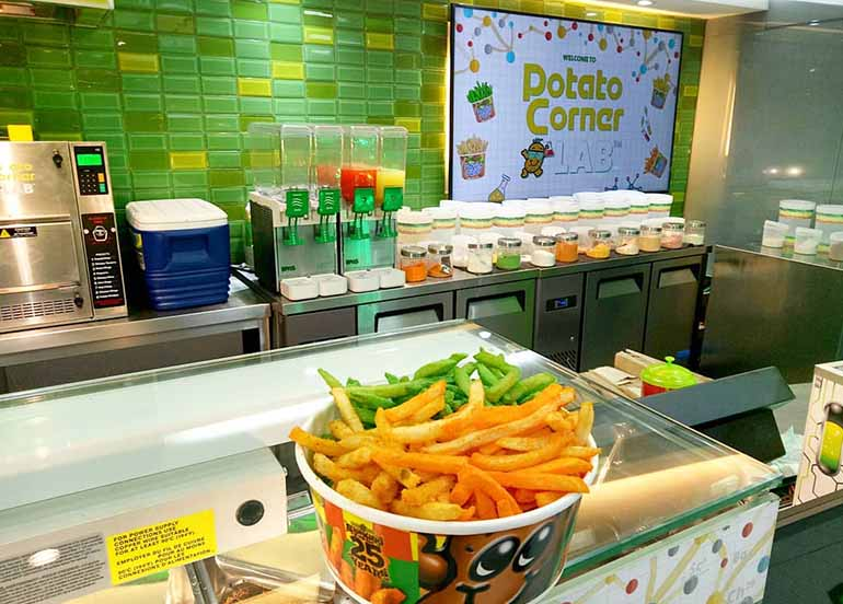 Fries and Interiors from Potato Corner Lab