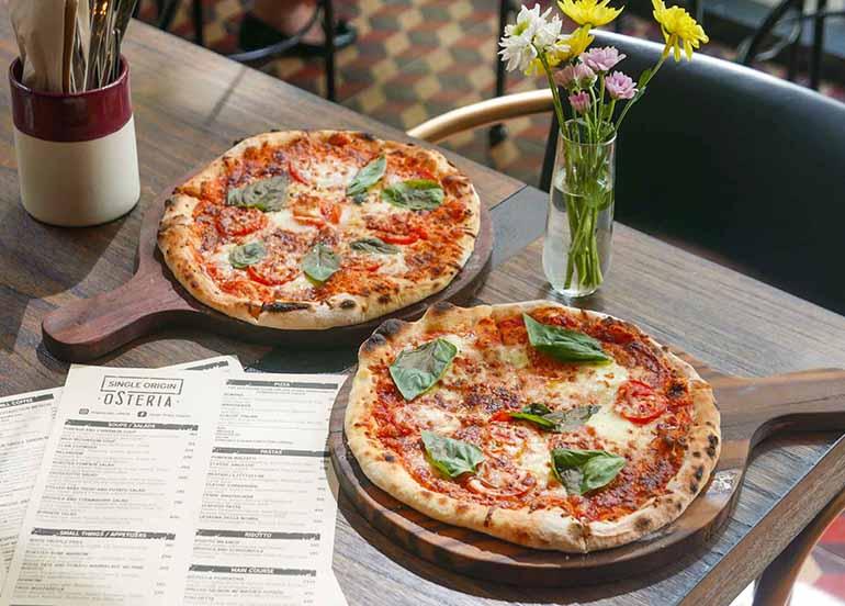 Margarita Pizza from Single Origin Osteria