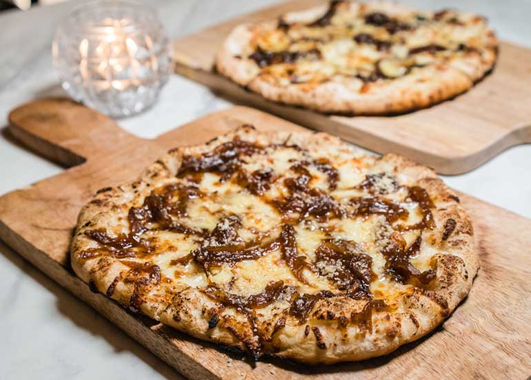 Caramelized Onion and Cheese Flatbread