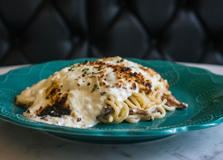 Spaghetti Carbonara Alla Mamma Mia from Mamma Mia
