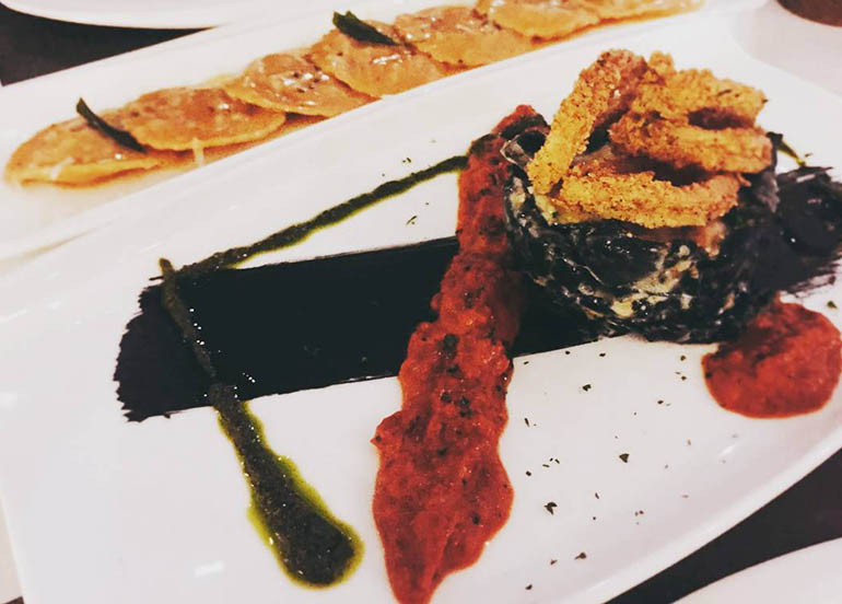 Squid Ink Lasagna from Todd English Food Hall