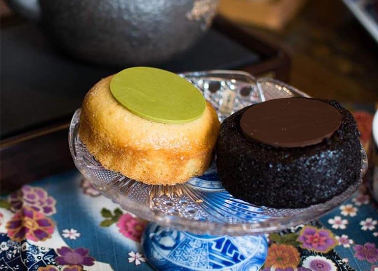 Chocolate Lava and Matcha Lava Cakes from Tsujiri