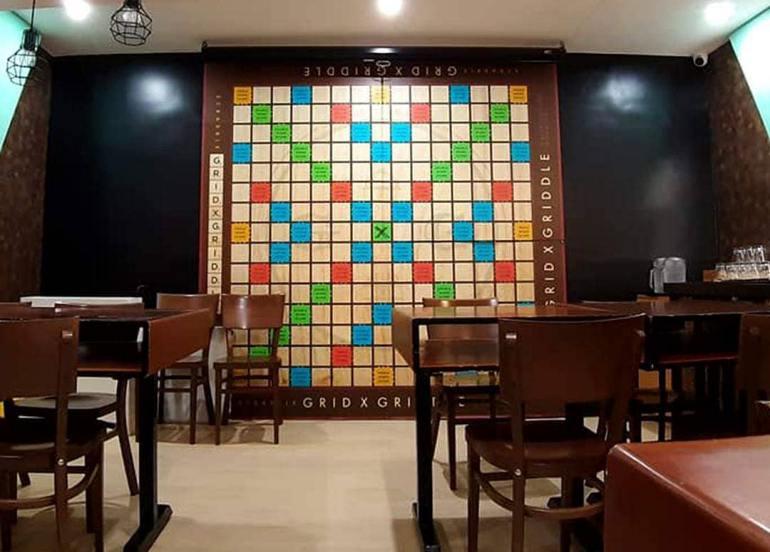 grid x griddle board game cafe