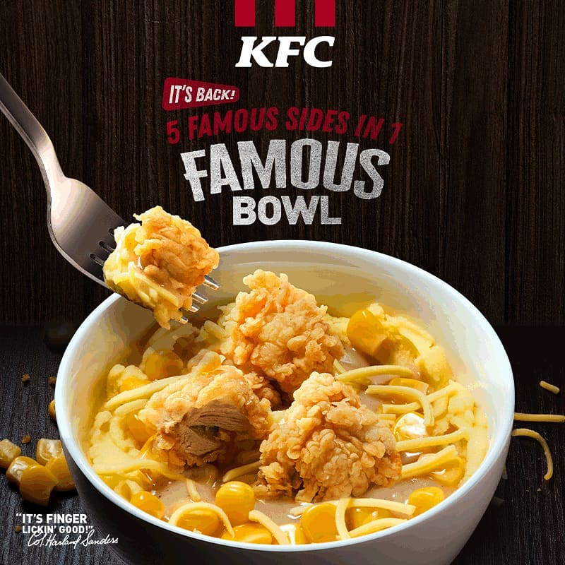Famous Bowl from KFC Philippines