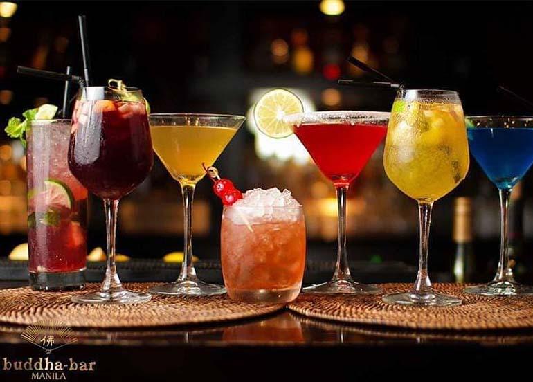 Drinks from Budhha Bar Manila