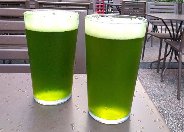 Matcha Beer from Liberty Kitchen + Bar